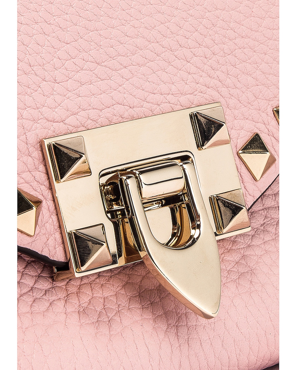 Image 8 of Valentino Rockstud Crossbody Bag in Water Rose