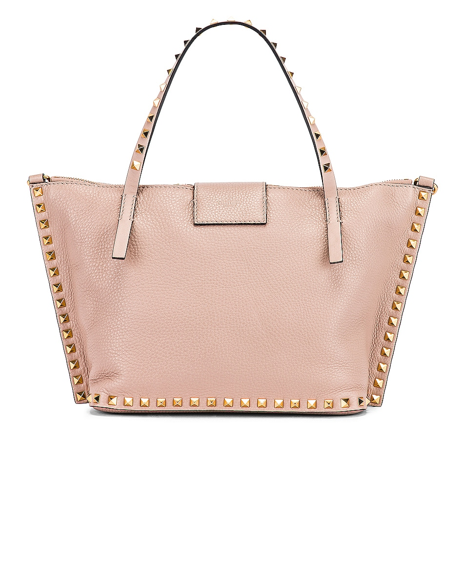 Image 3 of Valentino Rockstud Hype Tote in Poudre