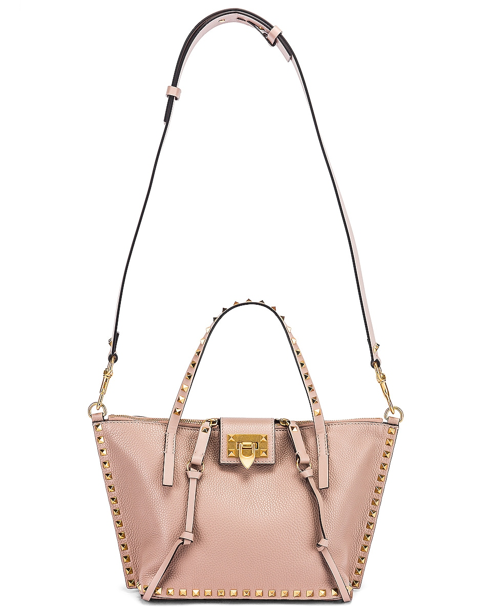 Image 6 of Valentino Rockstud Hype Tote in Poudre