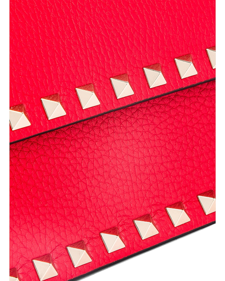 Image 8 of Valentino Rockstud Flap Crossbody Bag in Red