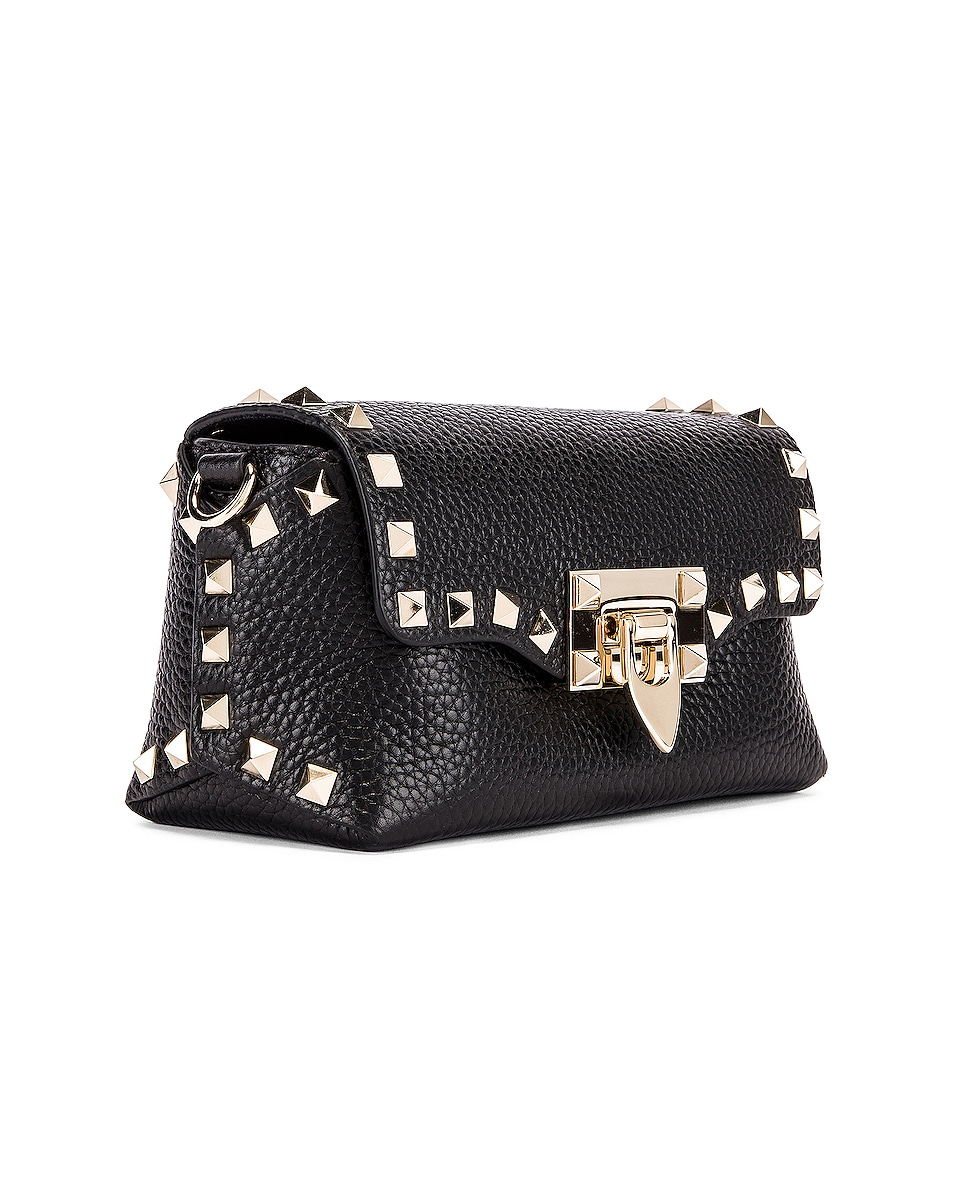 Image 4 of Valentino Rockstud Crossbody Bag in Black