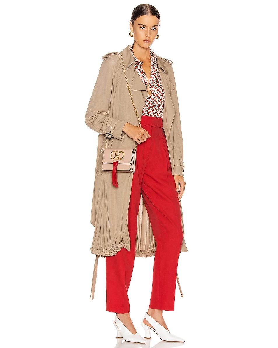 Image 2 of Valentino VLogo Ribbon Crossbody Bag in Rose & Red