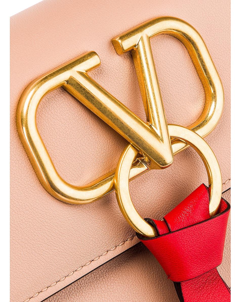 Image 8 of Valentino VLogo Ribbon Crossbody Bag in Rose & Red