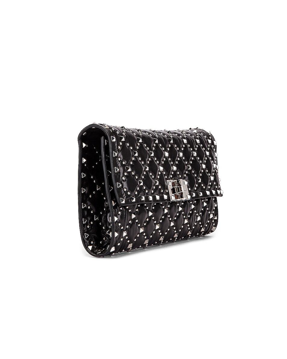 Image 4 of Valentino Rockstud Spike Crossbody Bag in Black