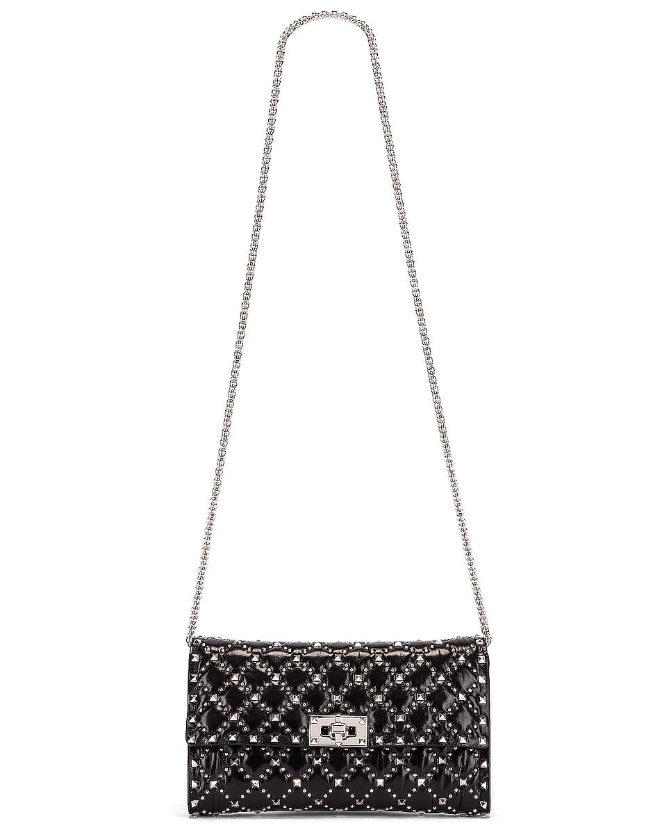 Image 6 of Valentino Rockstud Spike Crossbody Bag in Black