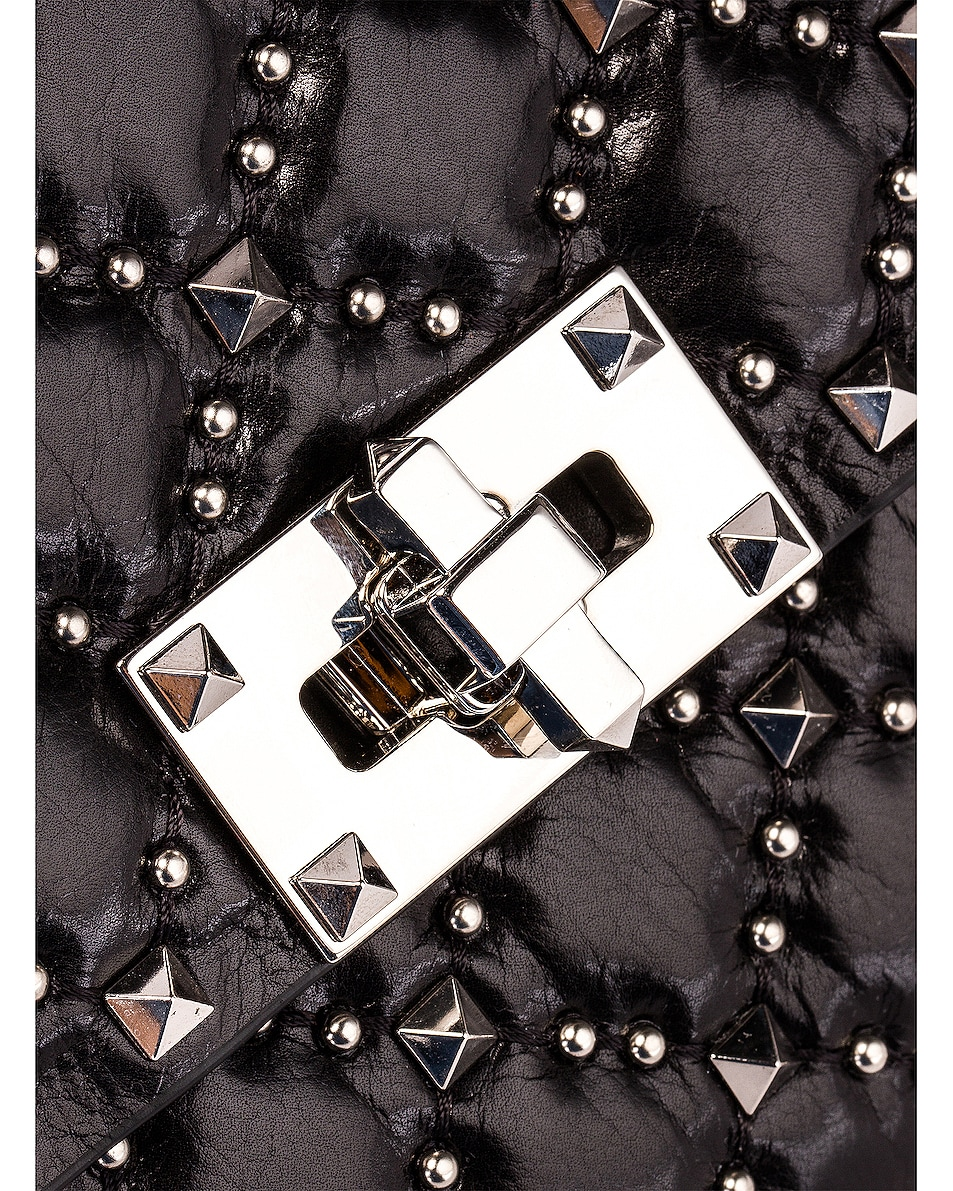 Image 8 of Valentino Rockstud Spike Crossbody Bag in Black