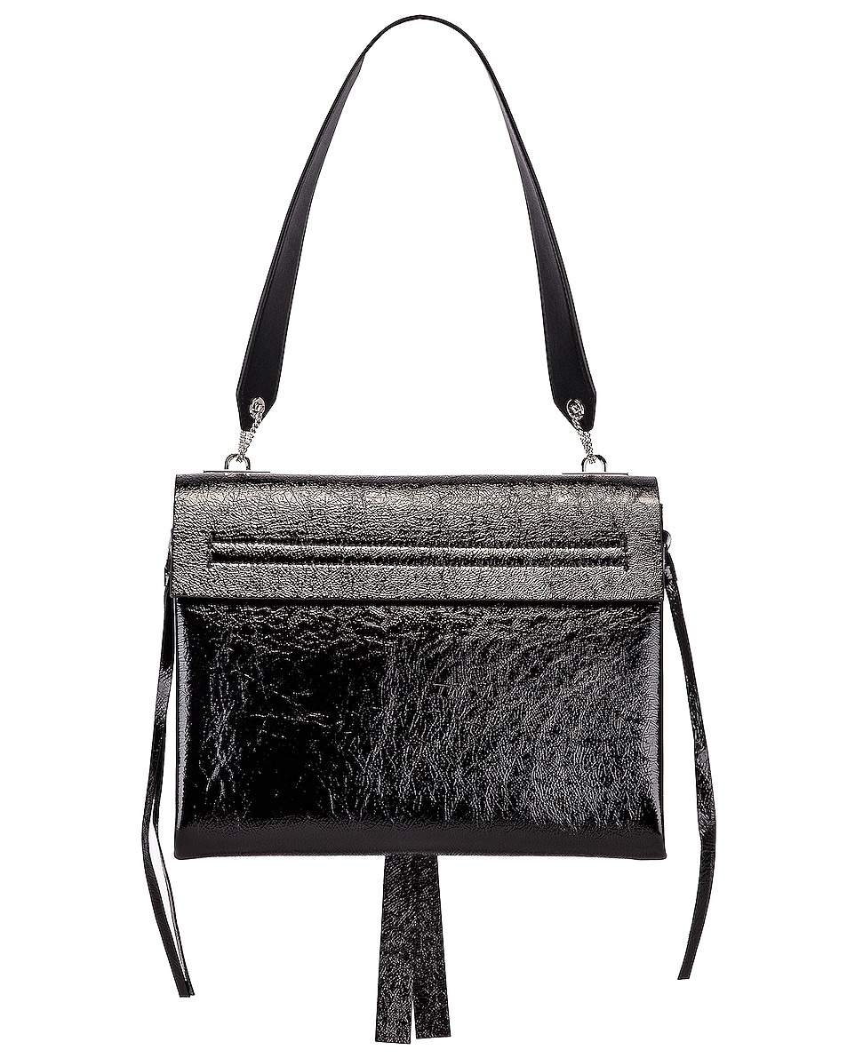 Image 3 of Valentino VLogo Ribbon Shoulder Bag in Black