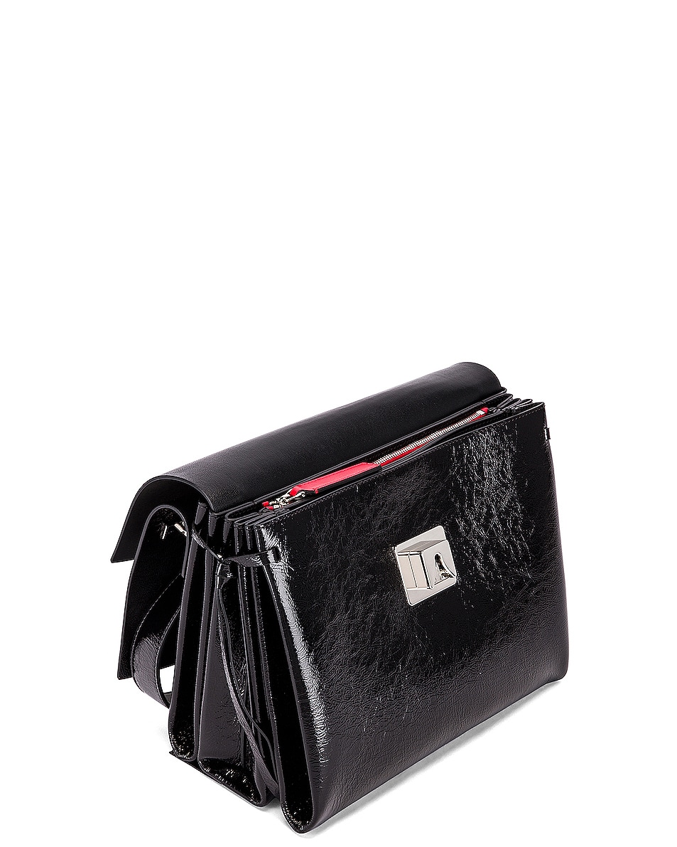 Image 5 of Valentino VLogo Ribbon Shoulder Bag in Black