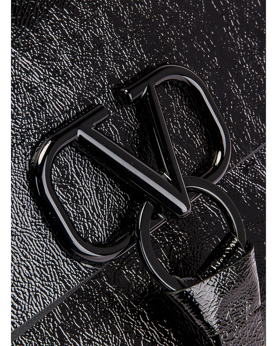 Image 7 of Valentino VLogo Ribbon Shoulder Bag in Black
