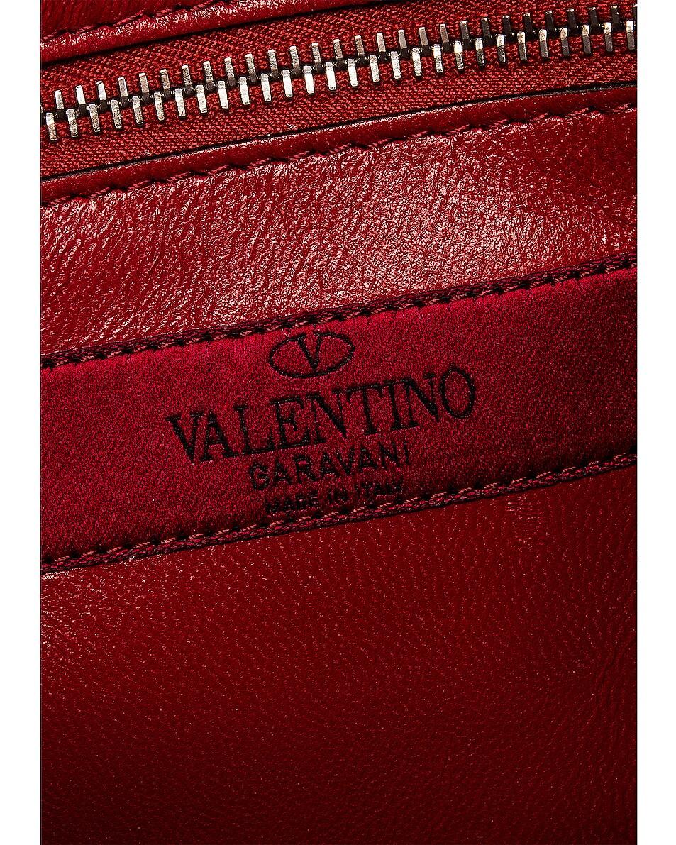Image 7 of Valentino Rockstud Spike Medium Shoulder Bag in Agnello & Palladium