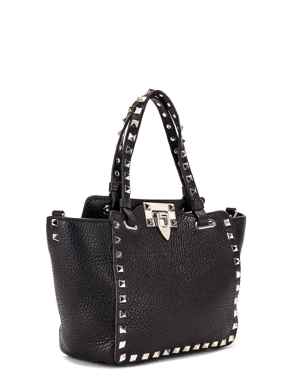 Image 4 of Valentino Rockstud Mini Tote in Black