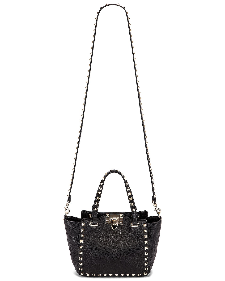 Image 6 of Valentino Rockstud Mini Tote in Black