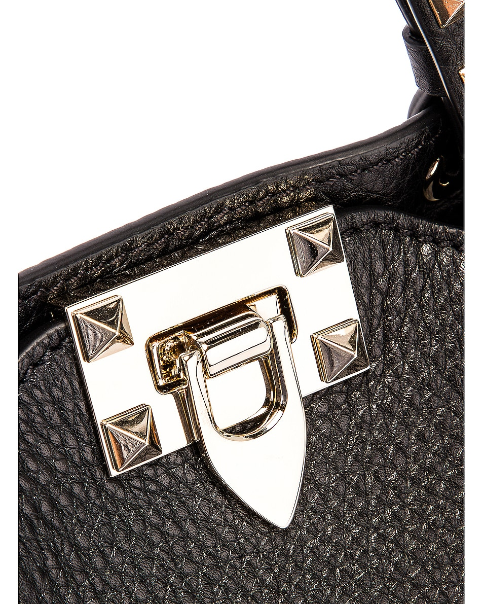 Image 8 of Valentino Rockstud Mini Tote in Black