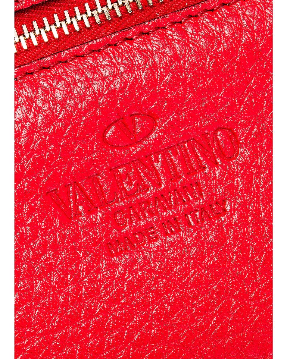 Image 7 of Valentino Rockstud Mini Tote in Red