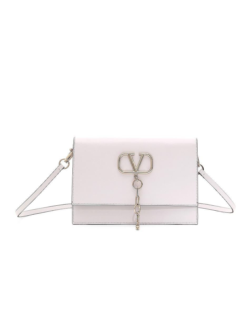 Image 1 of Valentino VCase Shoulder Bag in Bianco Ottico