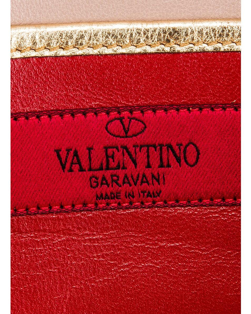 Image 7 of Valentino Rockstud Spike Clutch in Dark Gold
