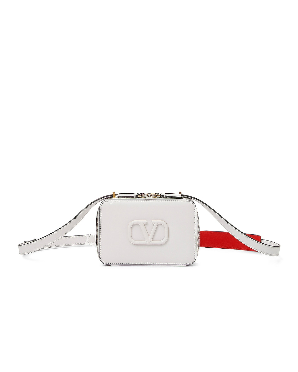 Image 1 of Valentino Small VSling Crossbody Bag in Bianco Ottico