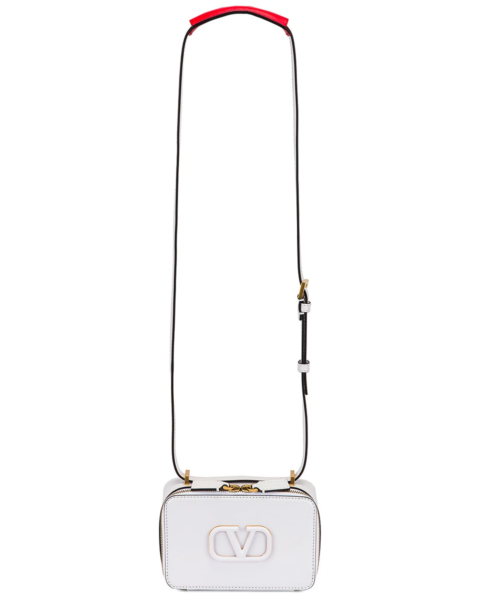 Image 6 of Valentino Small VSling Crossbody Bag in Bianco Ottico