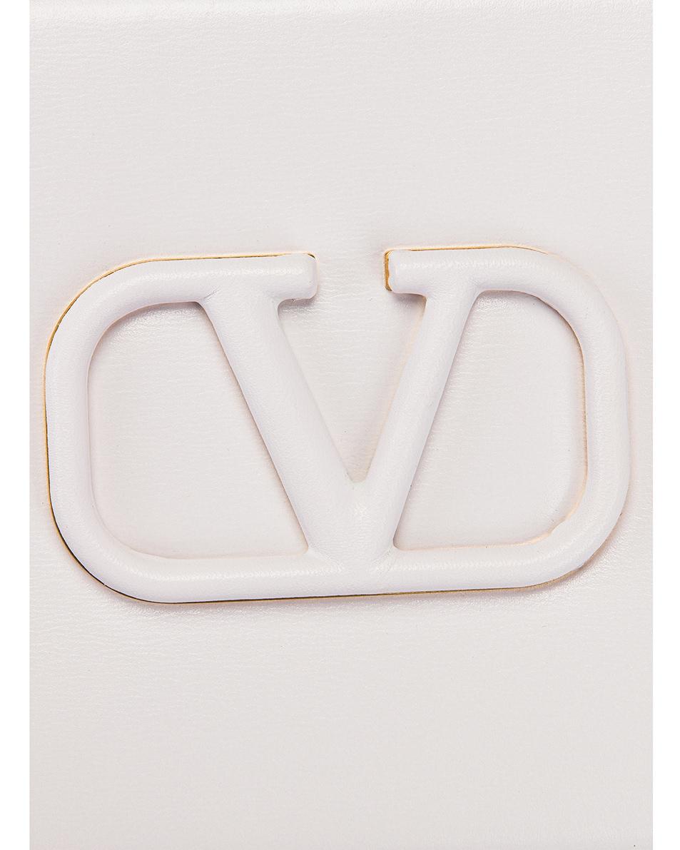 Image 8 of Valentino Small VSling Crossbody Bag in Bianco Ottico