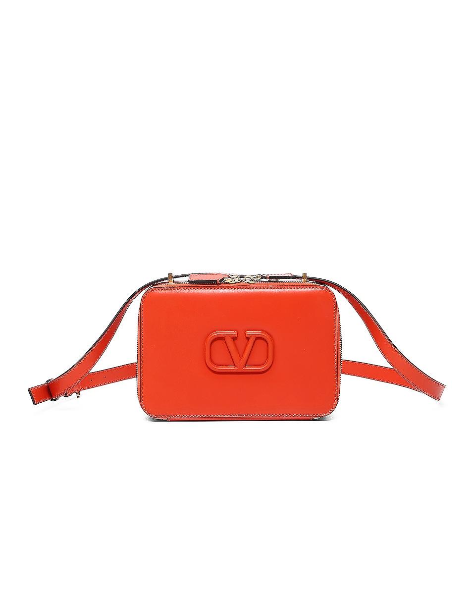 Image 1 of Valentino V Sling Crossbody Bag in Goldfish