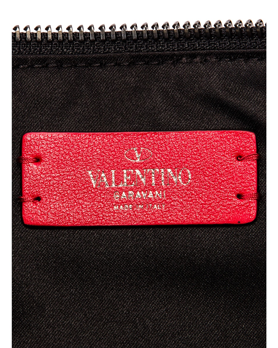 Image 6 of Valentino Large VRing Flat Pouch in Black