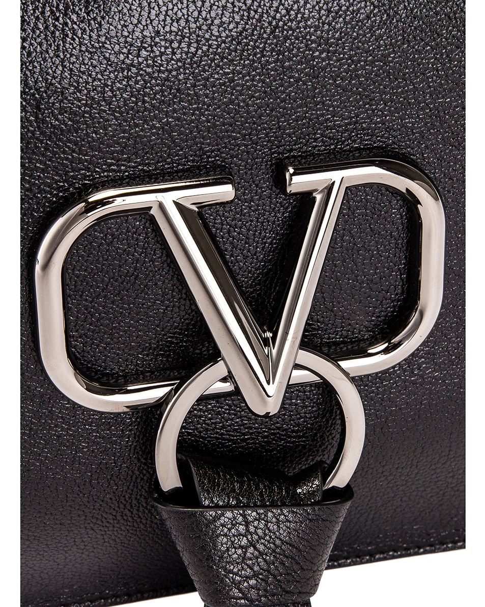 Image 7 of Valentino Large VRing Flat Pouch in Black