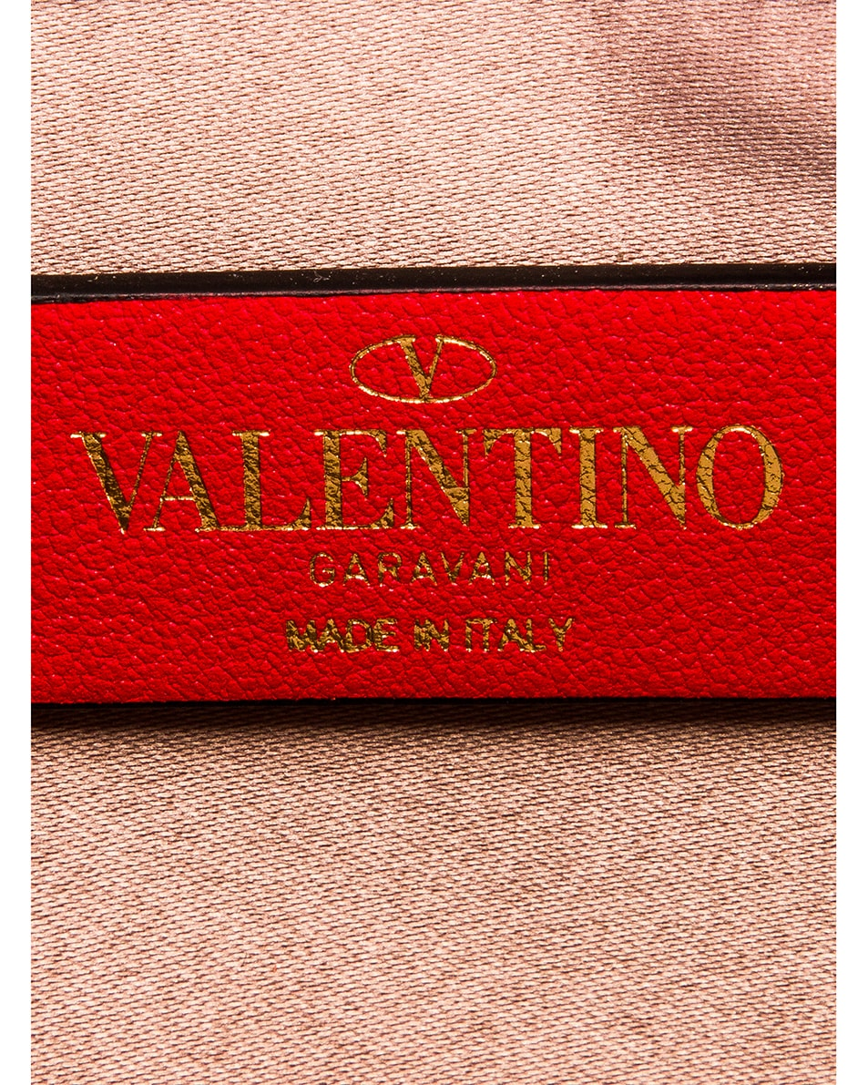Image 6 of Valentino VRing Pouch in Rose Cannelle & Rouge Pur