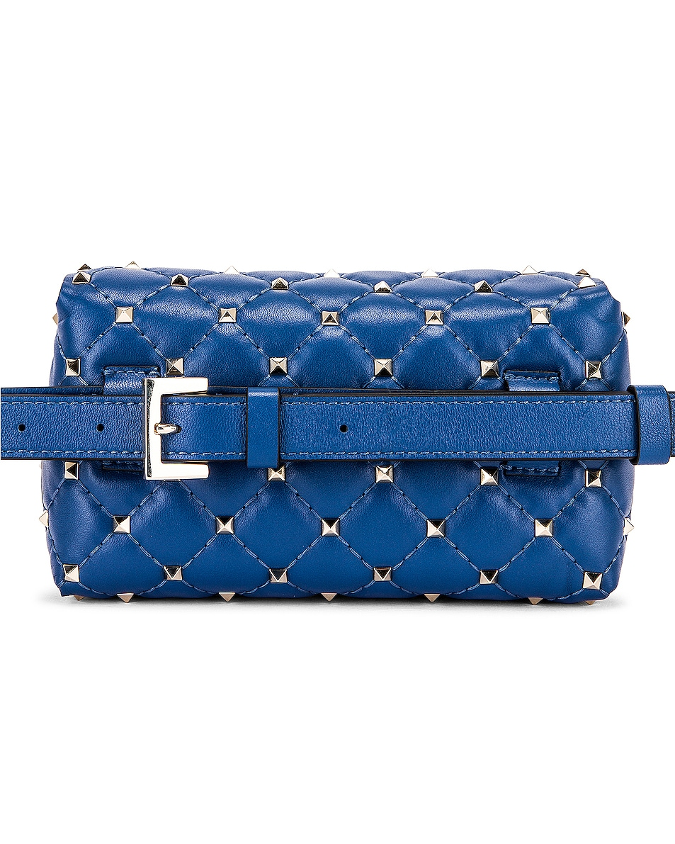 Image 2 of Valentino Rockstud Spike Belt Bag in Baltique