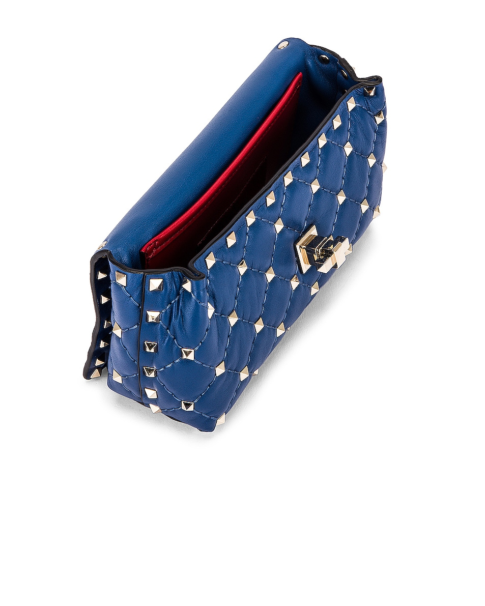 Image 4 of Valentino Rockstud Spike Belt Bag in Baltique
