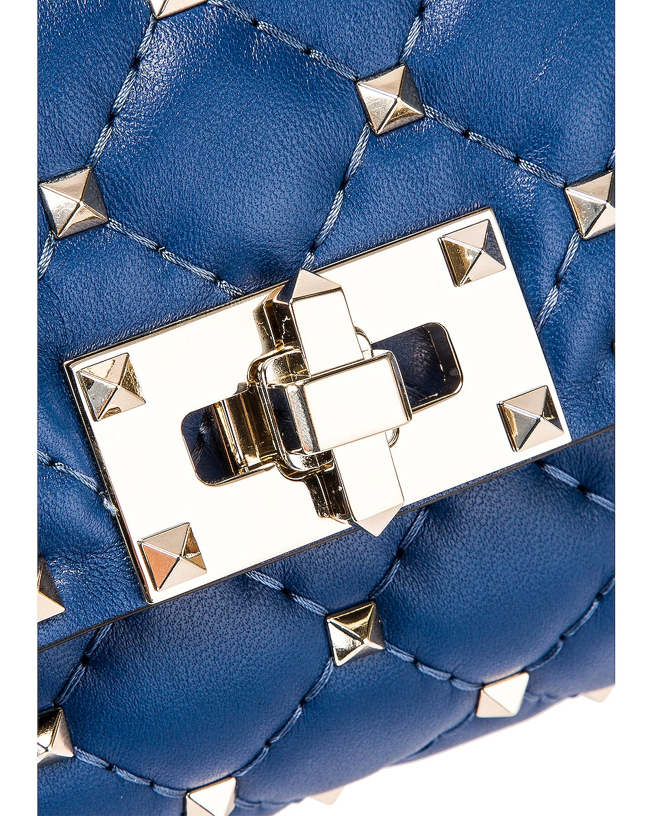 Image 6 of Valentino Rockstud Spike Belt Bag in Baltique