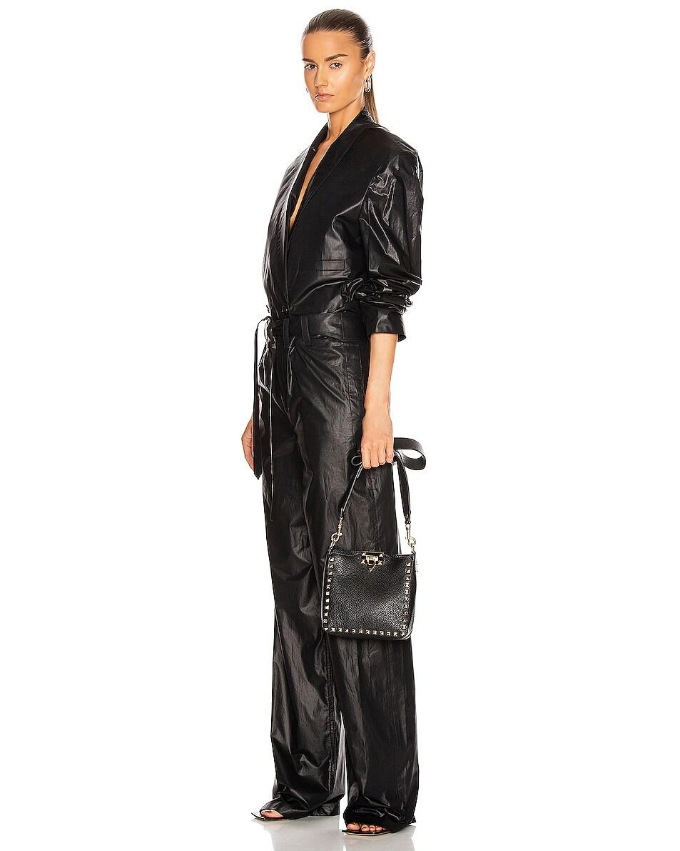 Image 2 of Valentino Rockstud Messenger Bag in Black
