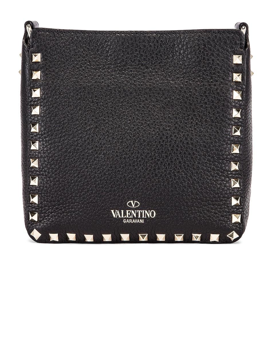 Image 3 of Valentino Rockstud Messenger Bag in Black