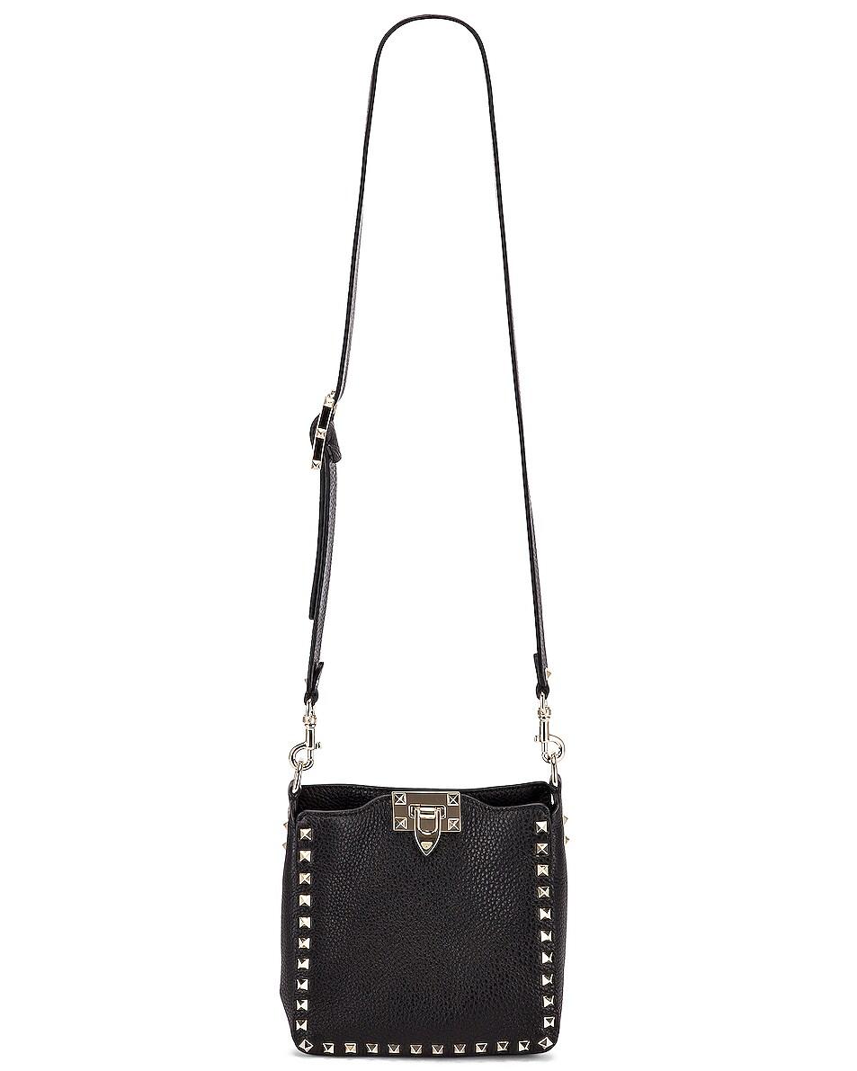 Image 6 of Valentino Rockstud Messenger Bag in Black