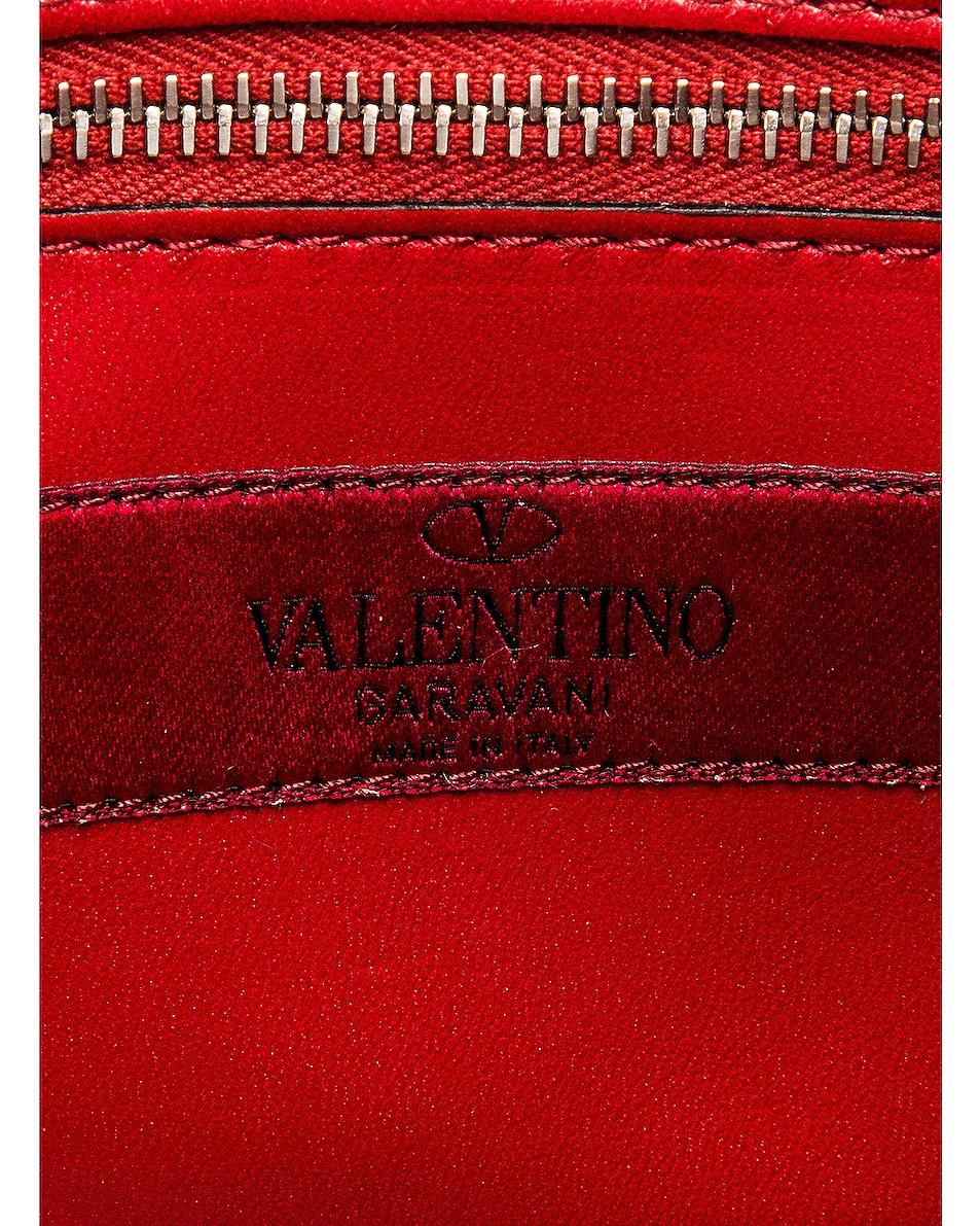 Image 7 of Valentino Rockstud Spike Medium Shoulder Bag in Silver & Pastel Grey