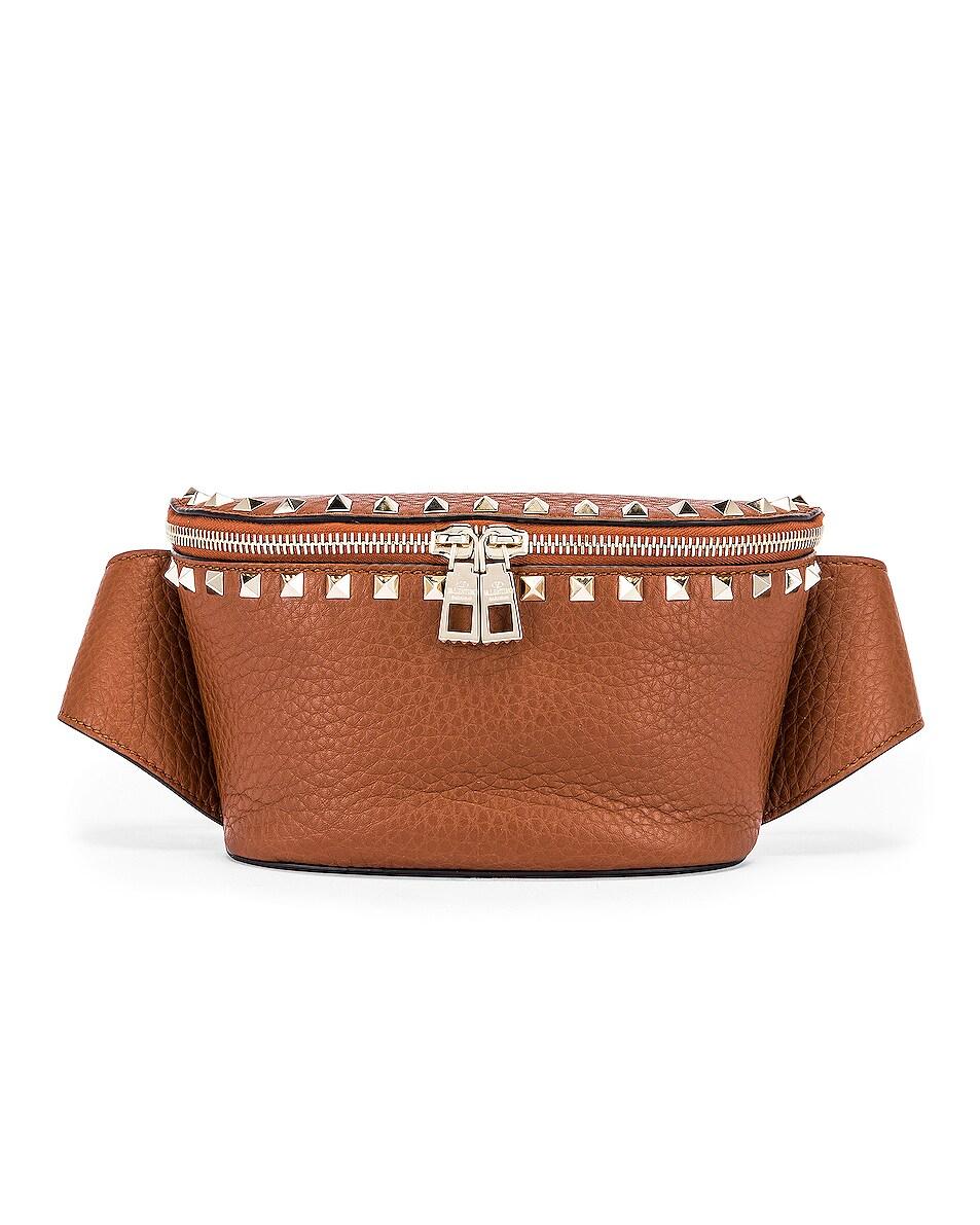 Image 1 of Valentino Rockstud Belt Bag in Bright Cognac
