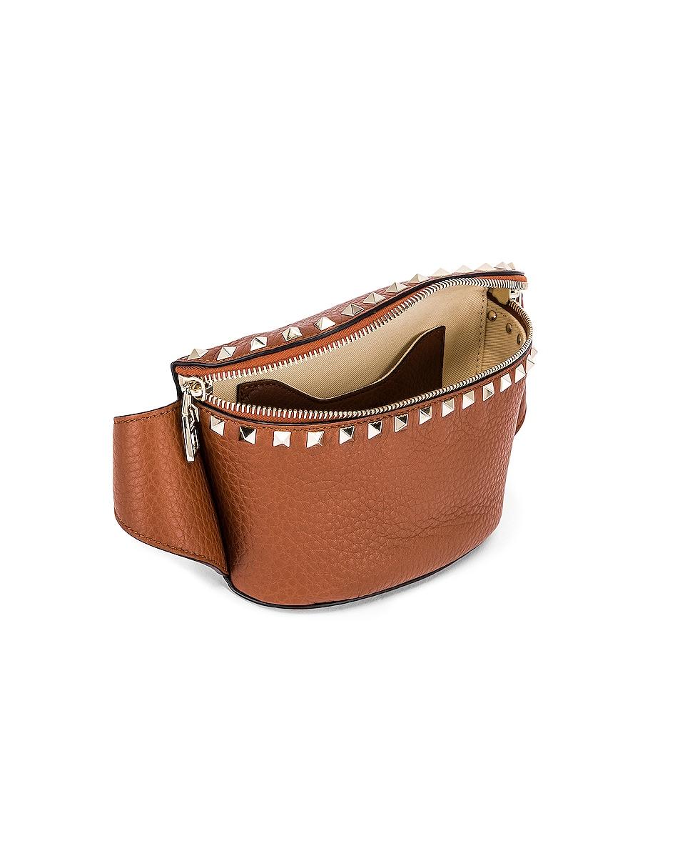 Image 5 of Valentino Rockstud Belt Bag in Bright Cognac