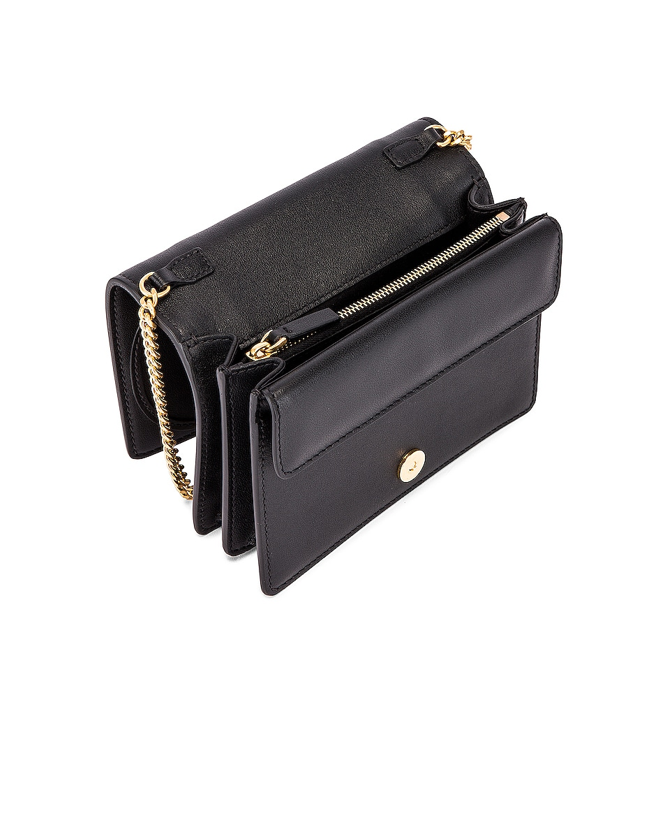 Image 5 of Valentino V Logo Crossbody Bag in Black