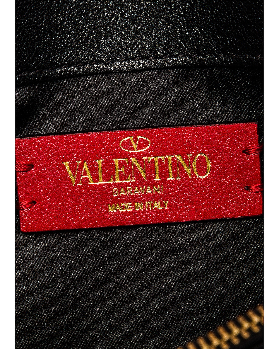 Image 7 of Valentino V Logo Crossbody Bag in Black