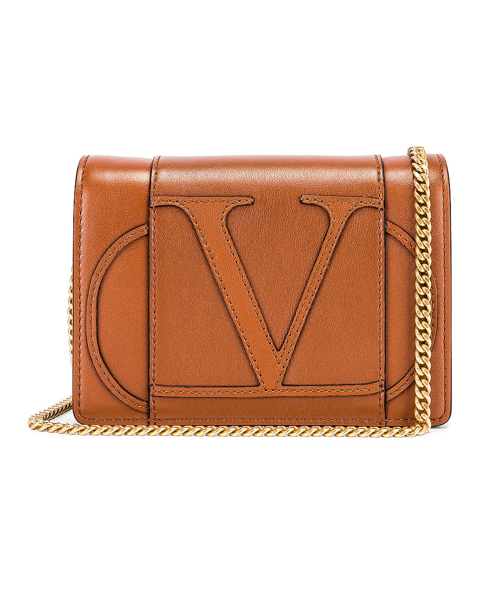 Image 1 of Valentino VLogo Crossbody Bag in Selleria