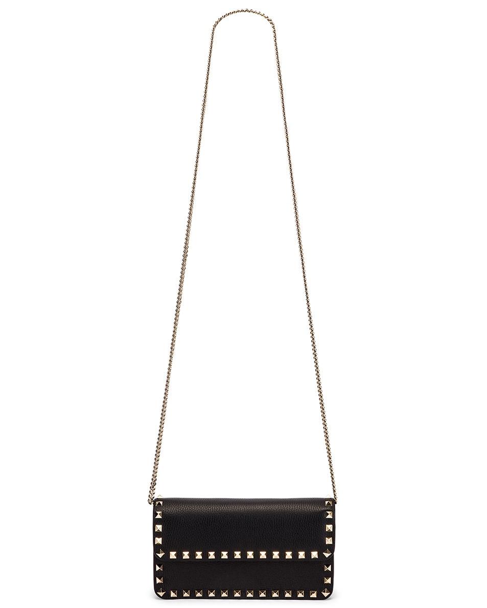 Image 6 of Valentino Rockstud Flap Crossbody Bag in Black