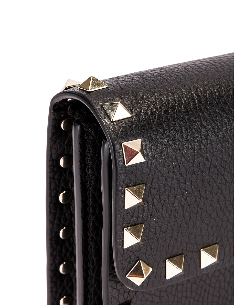 Image 8 of Valentino Rockstud Flap Crossbody Bag in Black