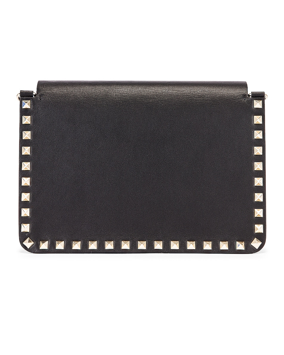 Image 3 of Valentino Rockstud Crossbody Camera Bag in Black