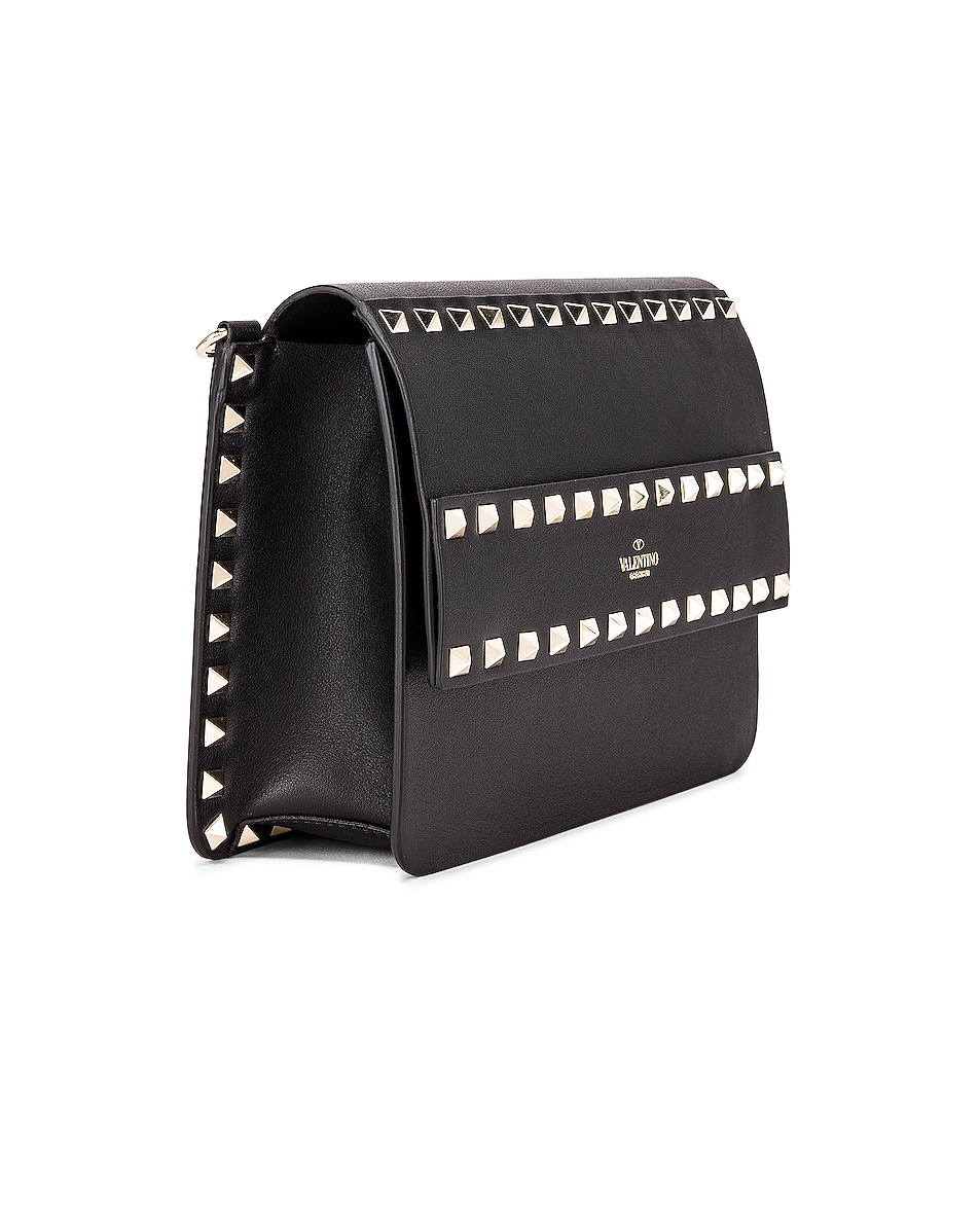 Image 4 of Valentino Rockstud Crossbody Camera Bag in Black