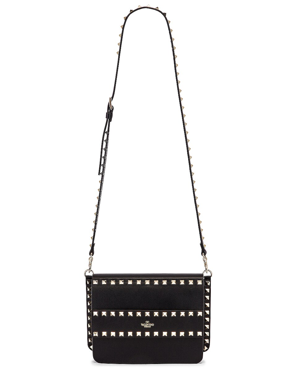 Image 6 of Valentino Rockstud Crossbody Camera Bag in Black