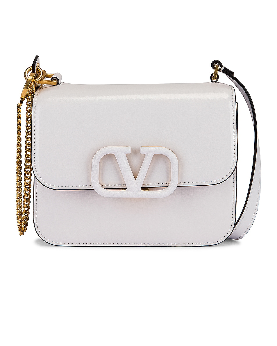 Image 1 of Valentino Small VSling Shoulder Bag in Bianco Ottico