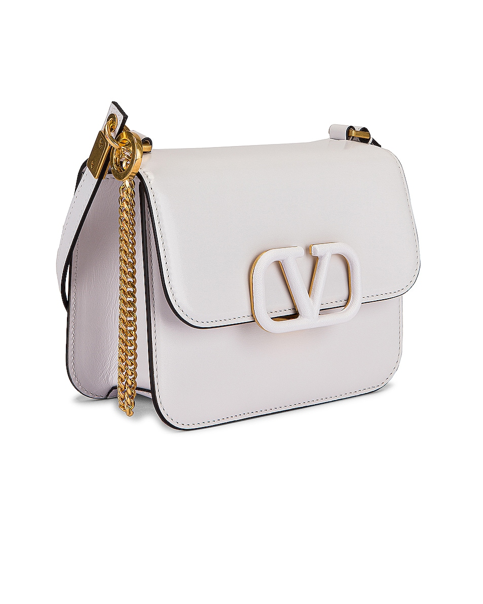 Image 4 of Valentino Small VSling Shoulder Bag in Bianco Ottico