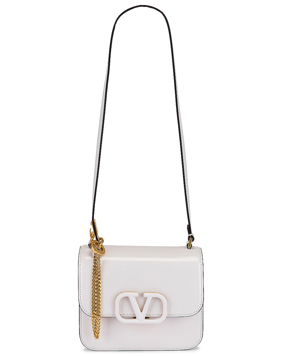 Image 6 of Valentino Small VSling Shoulder Bag in Bianco Ottico