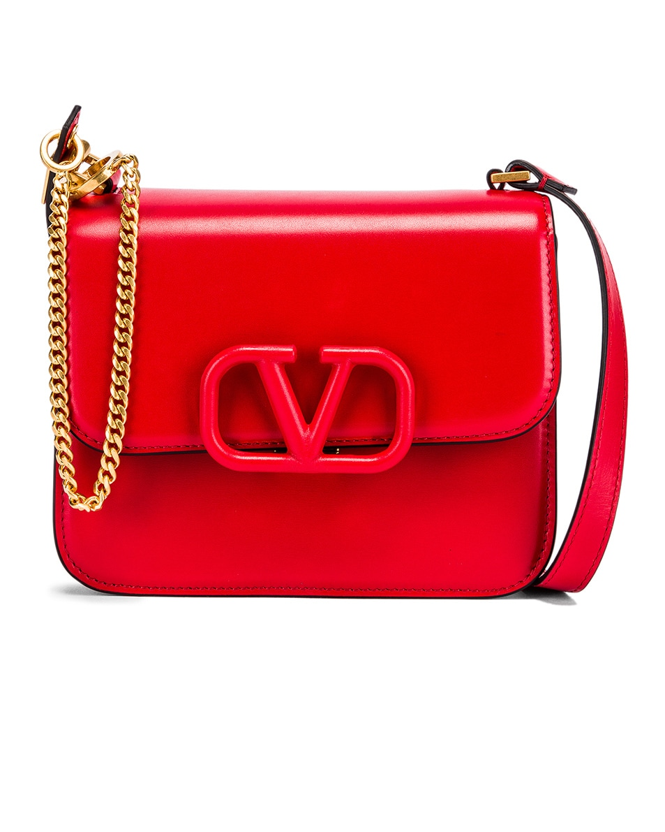 Image 1 of Valentino Small VSling Shoulder Bag in Rouge Pur