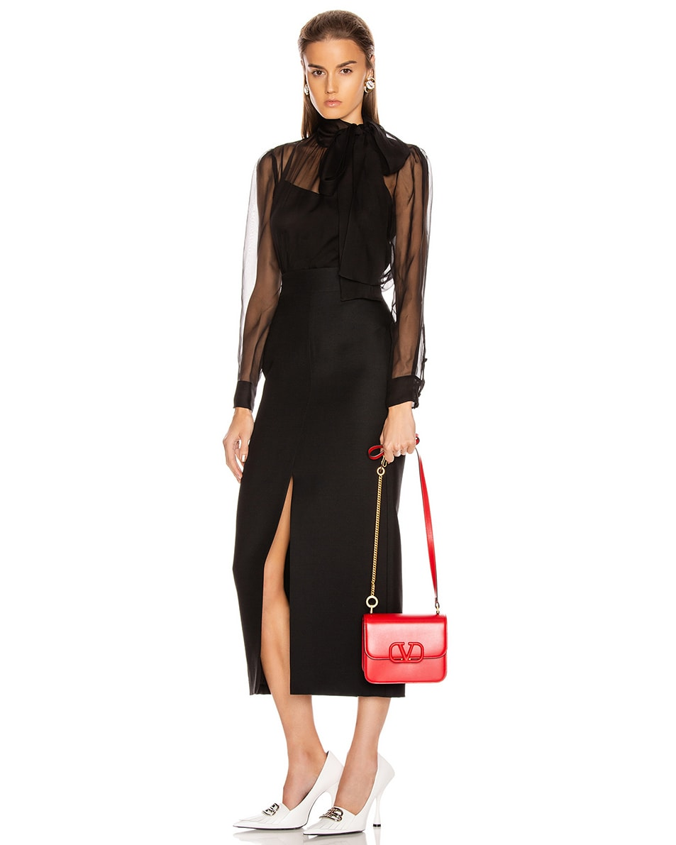 Image 2 of Valentino Small VSling Shoulder Bag in Rouge Pur