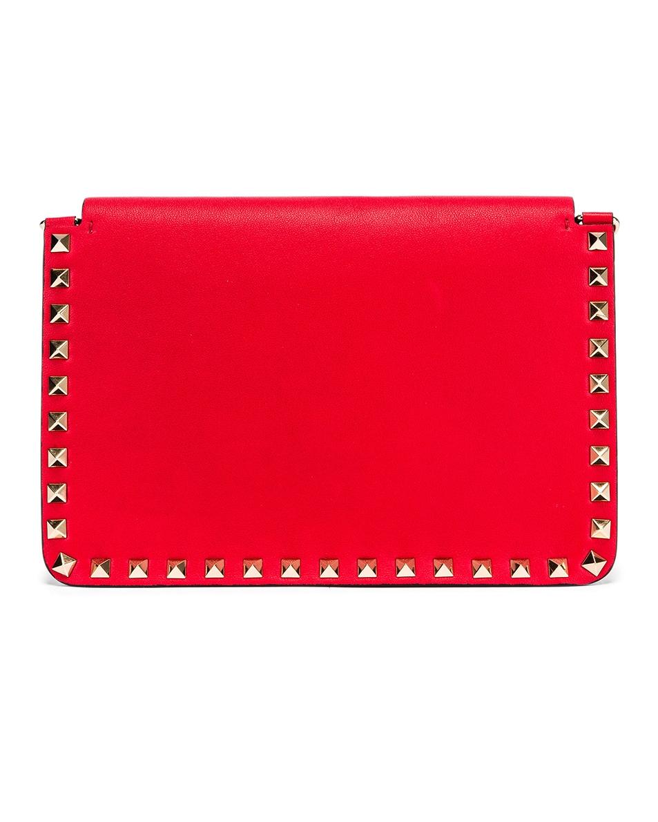 Image 3 of Valentino Rockstud Crossbody Camera Bag in Red